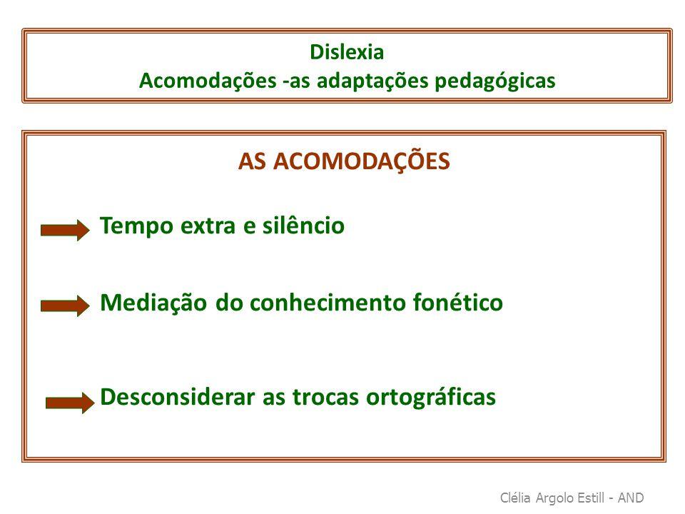 Dislexia Acomodações -as adaptações pedagógicas
