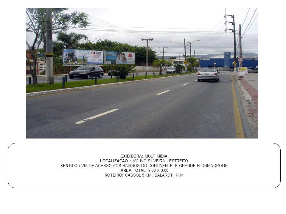 LOCALIZAÇÃO : AV. IVO SILVEIRA - ESTREITO