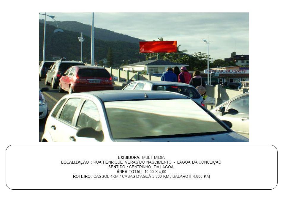 LOCALIZAÇÃO : RUA HENRIQUE VERAS DO NASCIMENTO - LAGOA DA CONCEIÇÃO