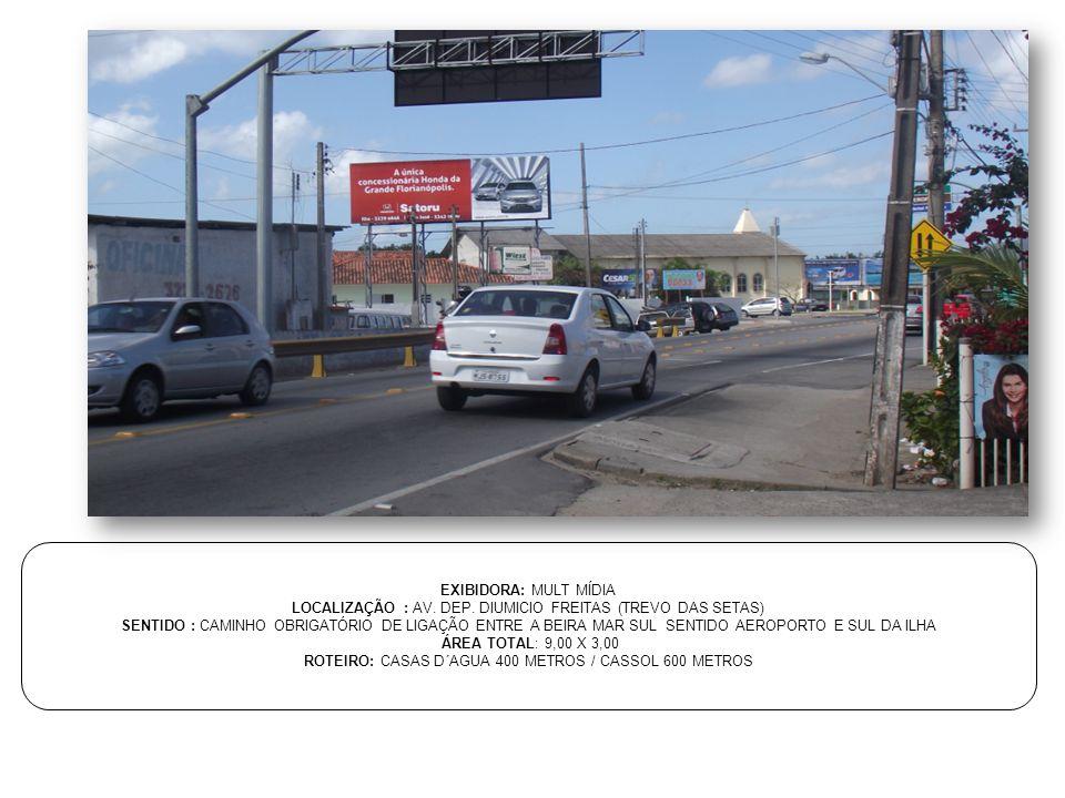 LOCALIZAÇÃO : AV. DEP. DIUMICIO FREITAS (TREVO DAS SETAS)