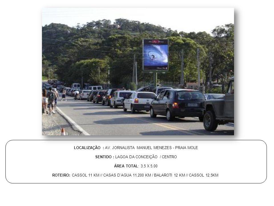 LOCALIZAÇÃO : AV. JORNALISTA MANUEL MENEZES - PRAIA MOLE