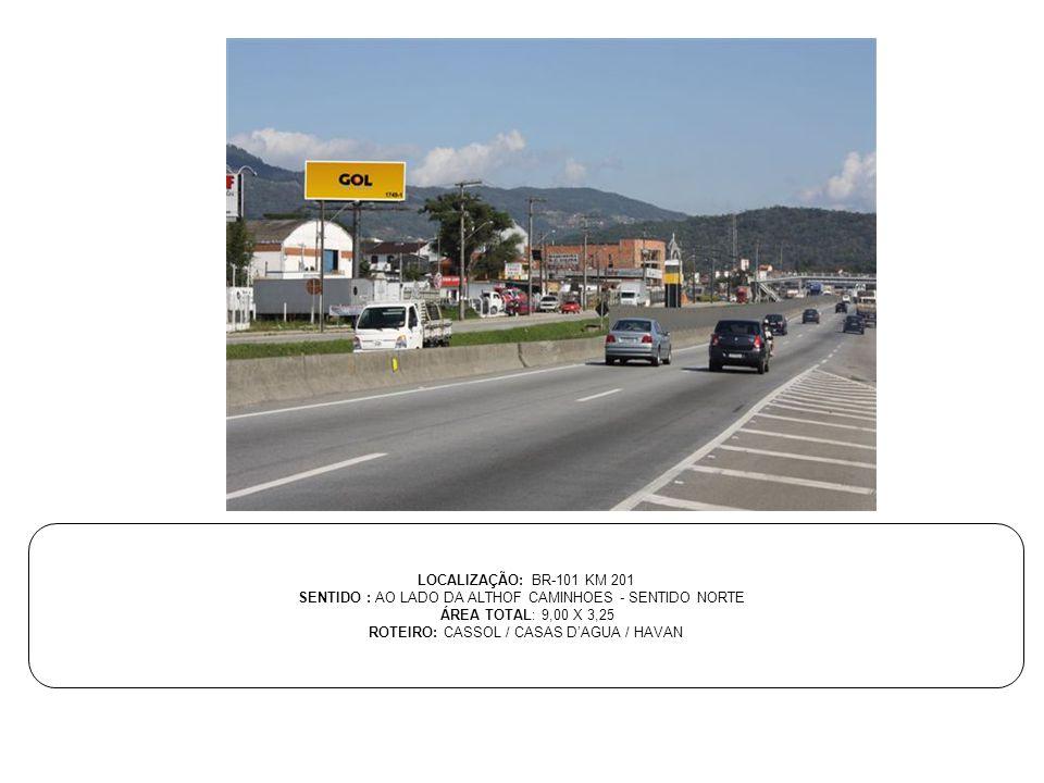 SENTIDO : AO LADO DA ALTHOF CAMINHOES - SENTIDO NORTE