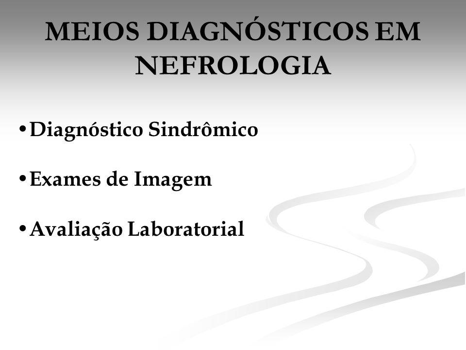 MEIOS DIAGNÓSTICOS EM NEFROLOGIA