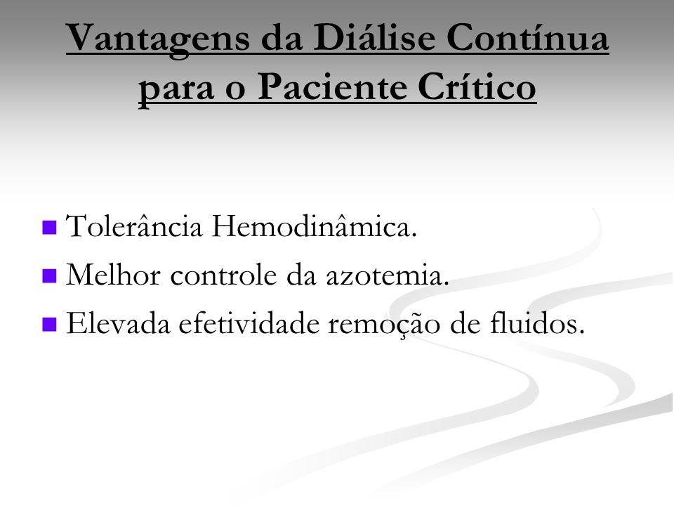 Vantagens da Diálise Contínua para o Paciente Crítico