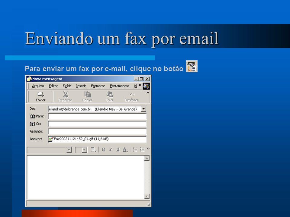 Enviando um fax por email
