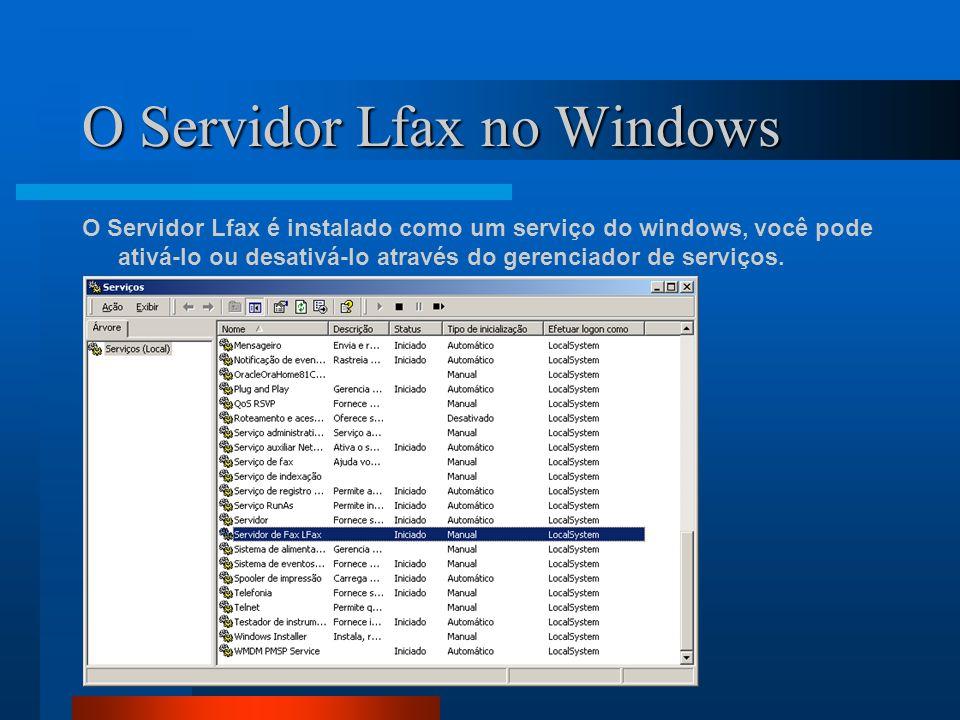 O Servidor Lfax no Windows