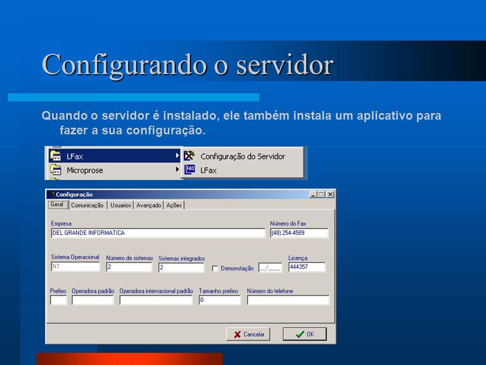 Configurando o servidor