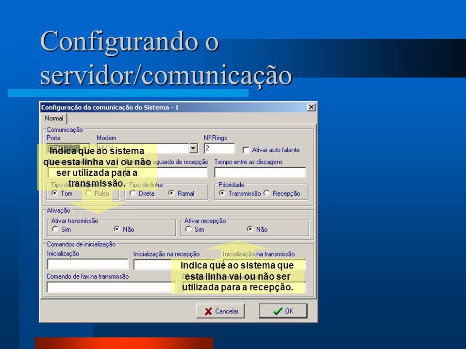 Configurando o servidor/comunicação