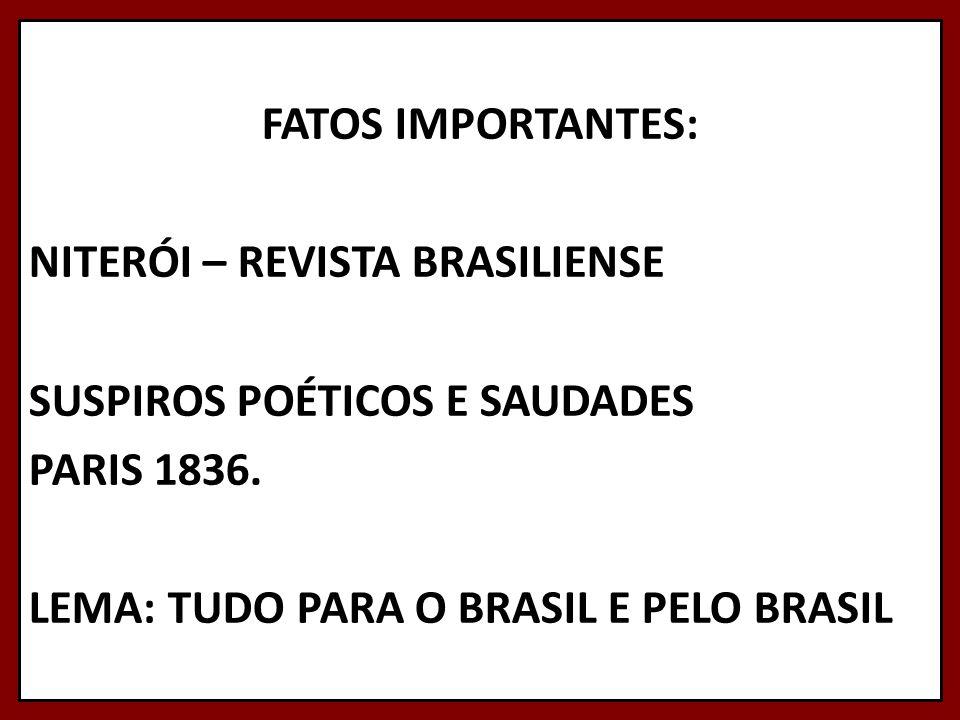 FATOS IMPORTANTES: NITERÓI – REVISTA BRASILIENSE SUSPIROS POÉTICOS E SAUDADES PARIS 1836.