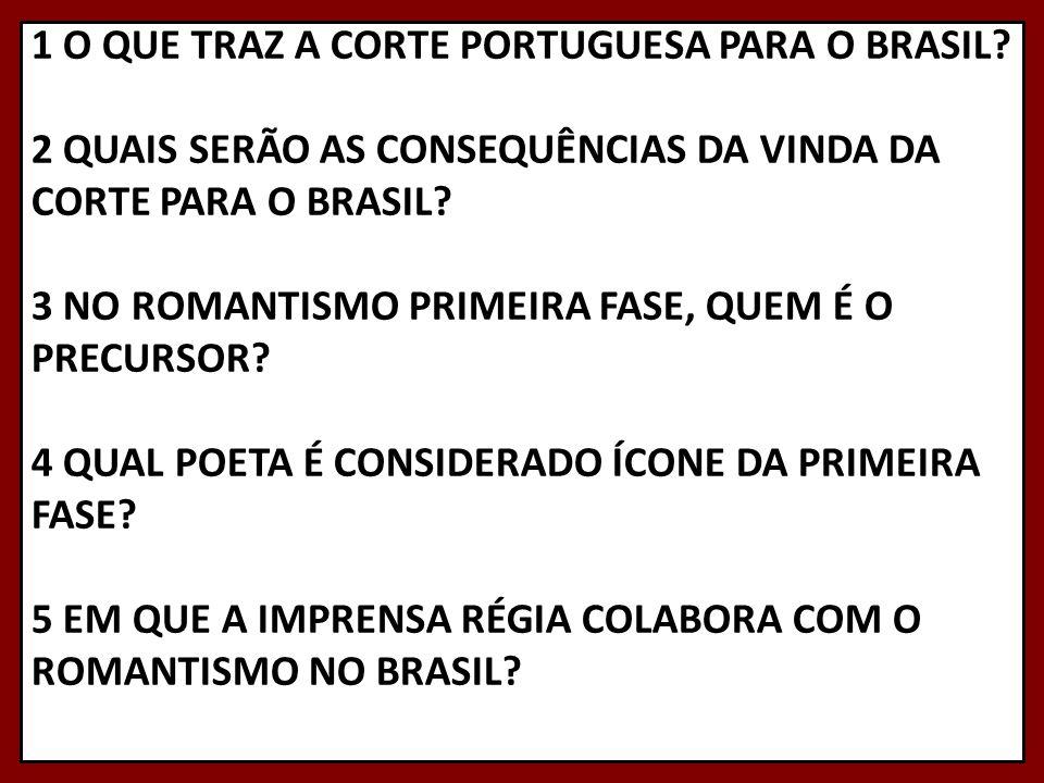 1 O QUE TRAZ A CORTE PORTUGUESA PARA O BRASIL