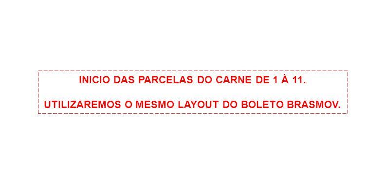 INICIO DAS PARCELAS DO CARNE DE 1 À 11.
