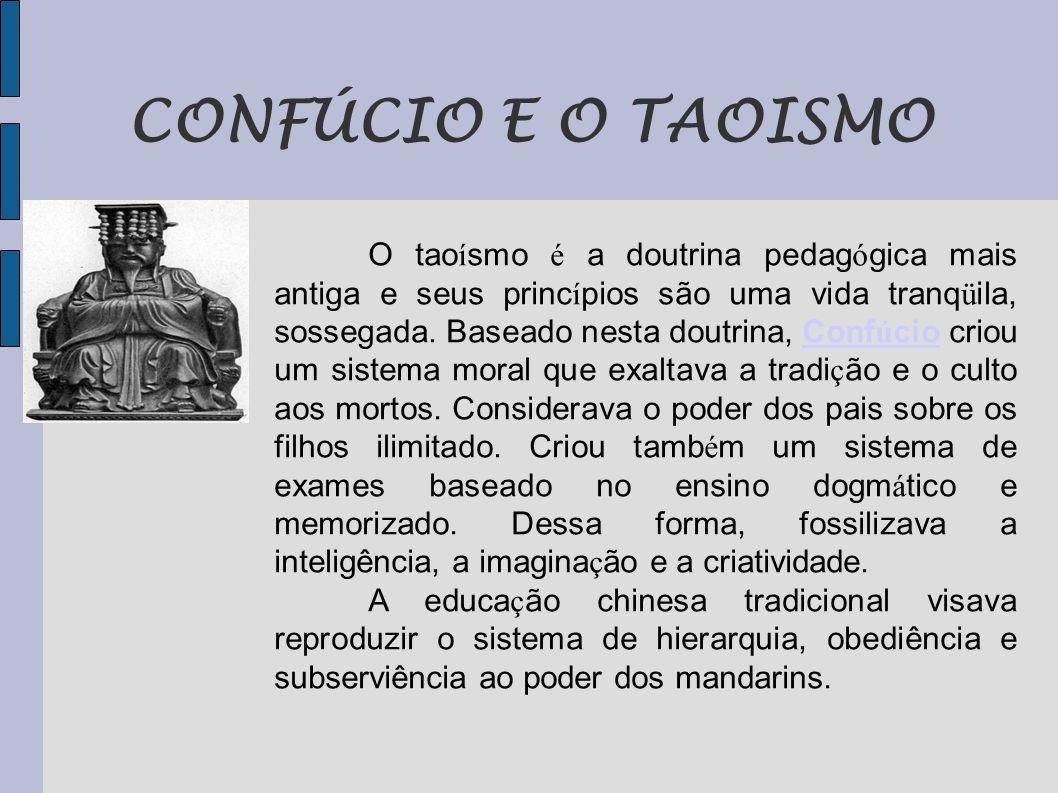 CONFÚCIO E O TAOISMO