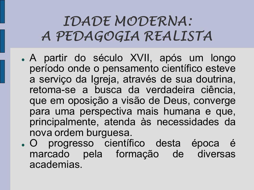 IDADE MODERNA: A PEDAGOGIA REALISTA