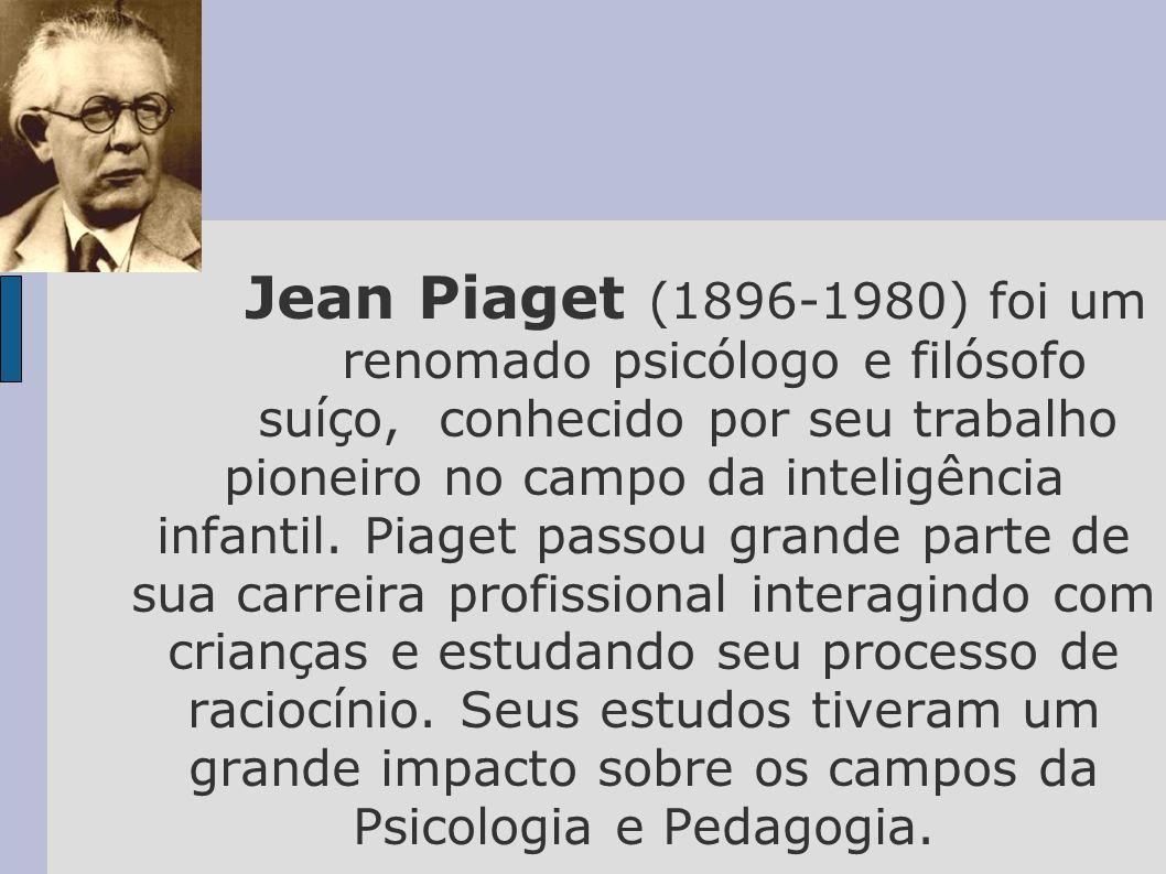 Jean Piaget (1896-1980) foi um renomado psicólogo e filósofo suíço, conhecido por seu trabalho pioneiro no campo da inteligência infantil.
