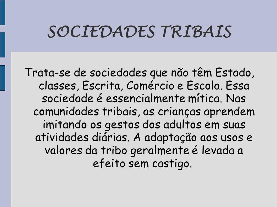 SOCIEDADES TRIBAIS