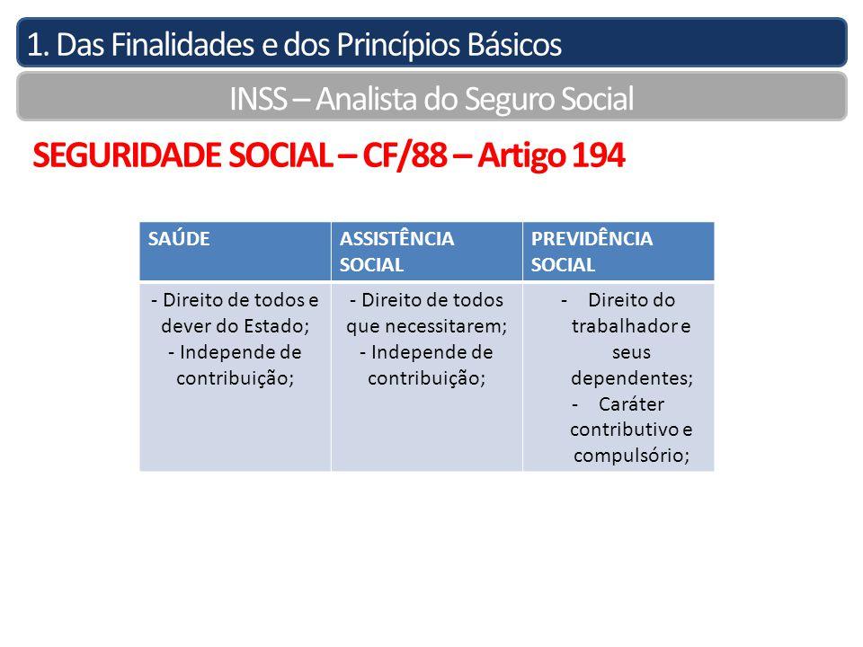 SEGURIDADE SOCIAL – CF/88 – Artigo 194