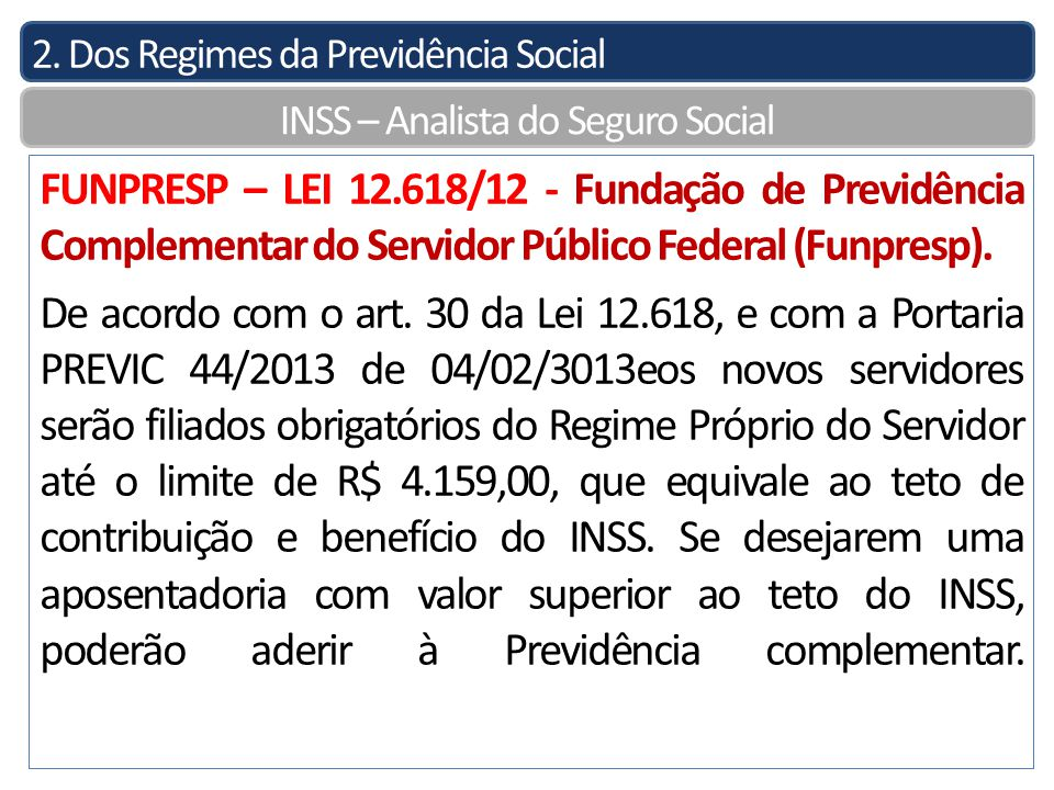 INSS – Analista do Seguro Social