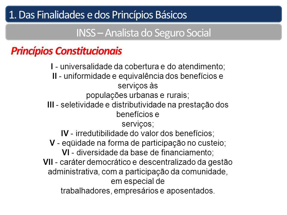 1. Das Finalidades e dos Princípios Básicos