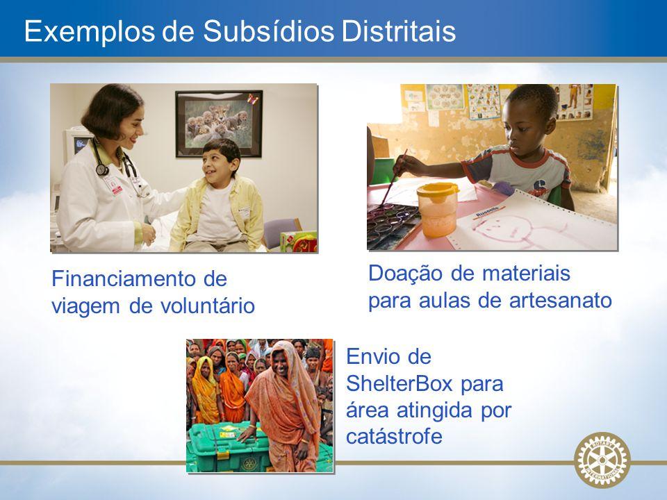 Exemplos de Subsídios Distritais