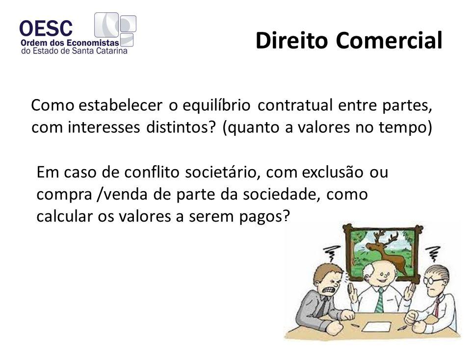 Direito Comercial Como estabelecer o equilíbrio contratual entre partes, com interesses distintos (quanto a valores no tempo)