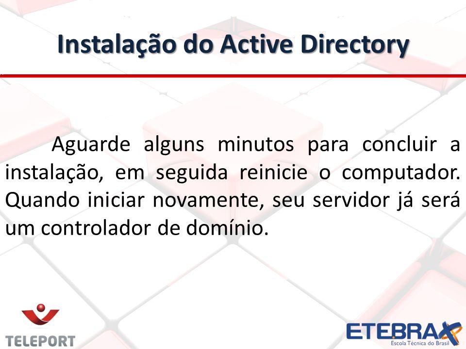 Instalação do Active Directory