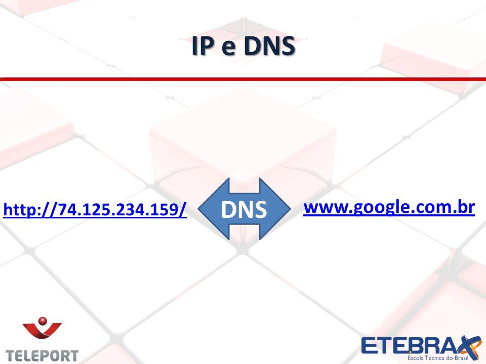 IP e DNS http://74.125.234.159/ www.google.com.br DNS