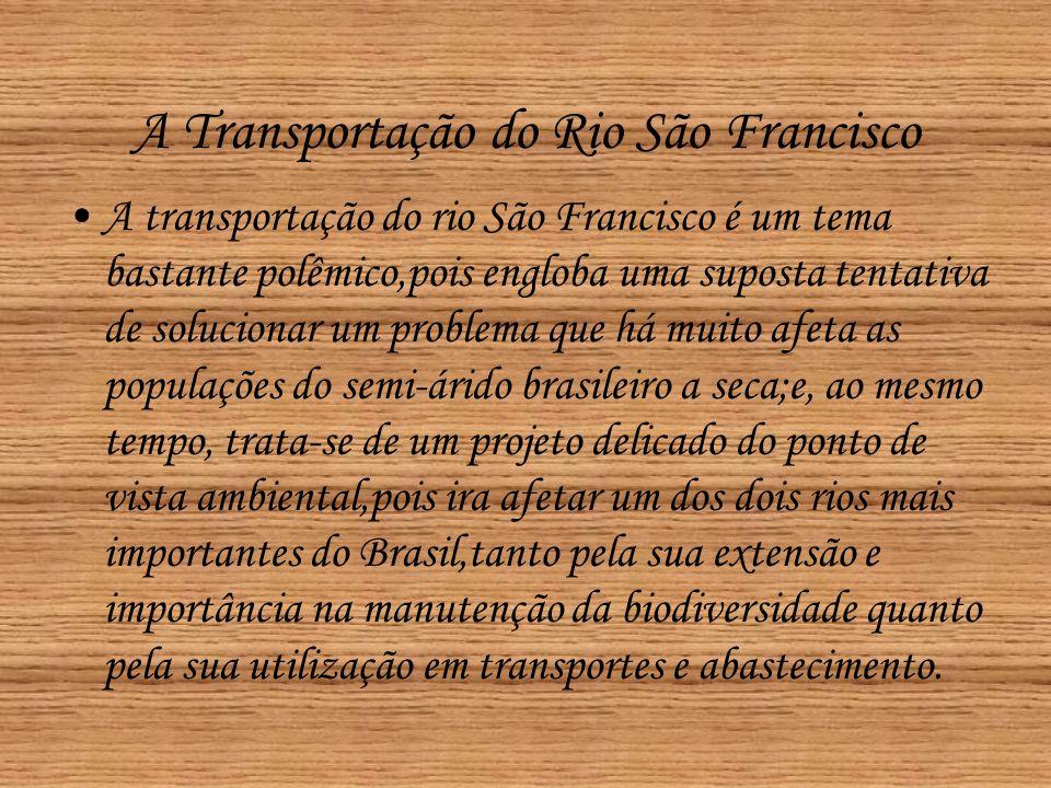 A Transportação do Rio São Francisco