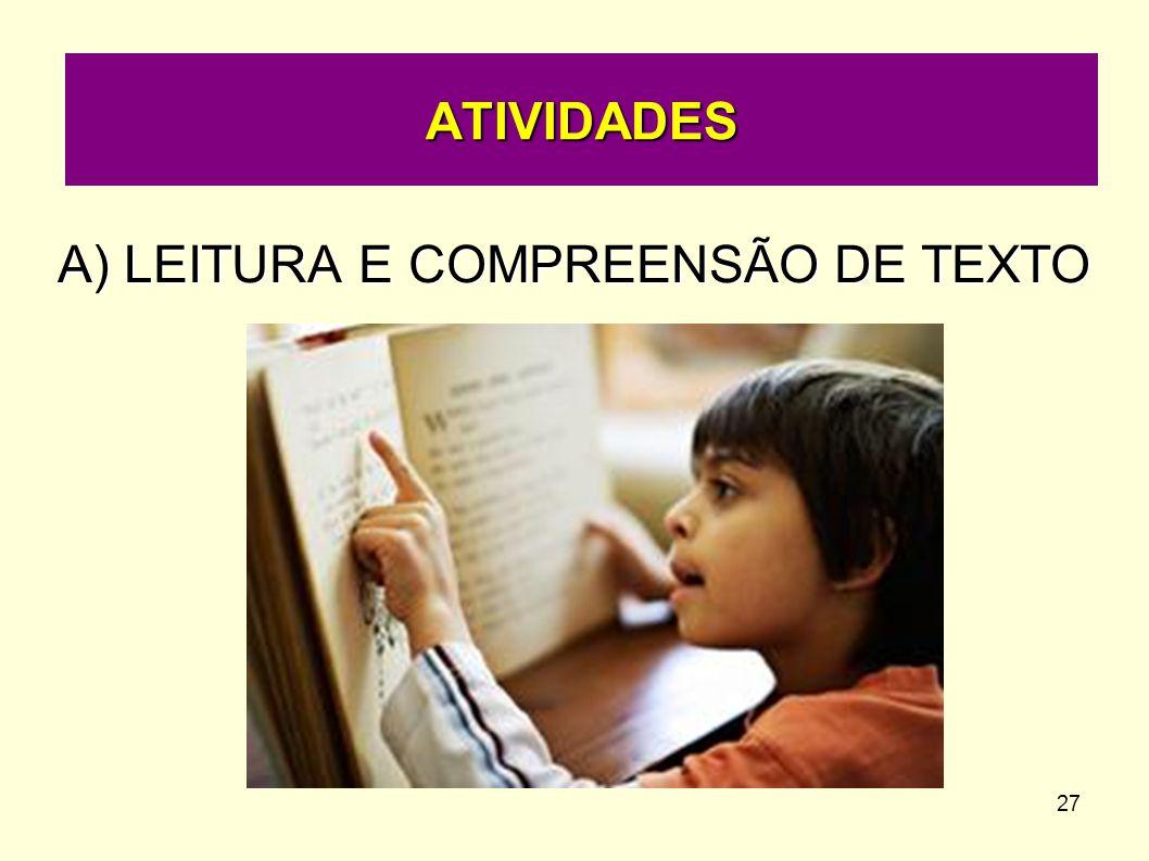 LEITURA E COMPREENSÃO DE TEXTO