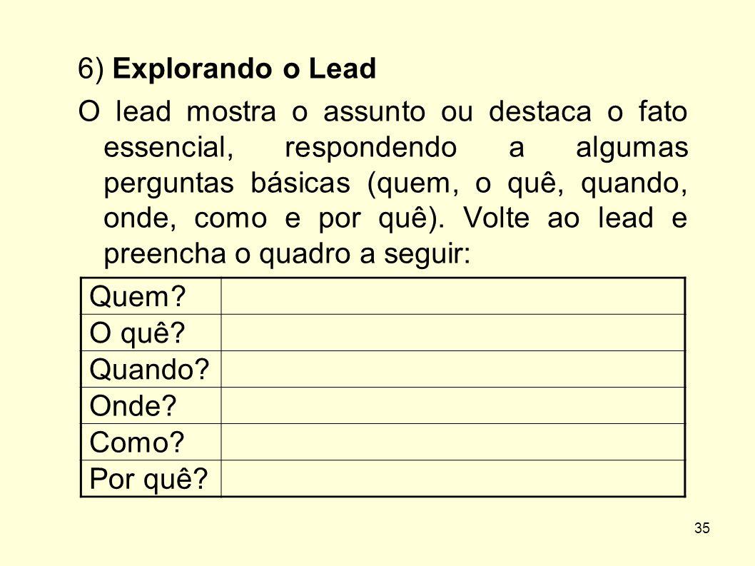 6) Explorando o Lead