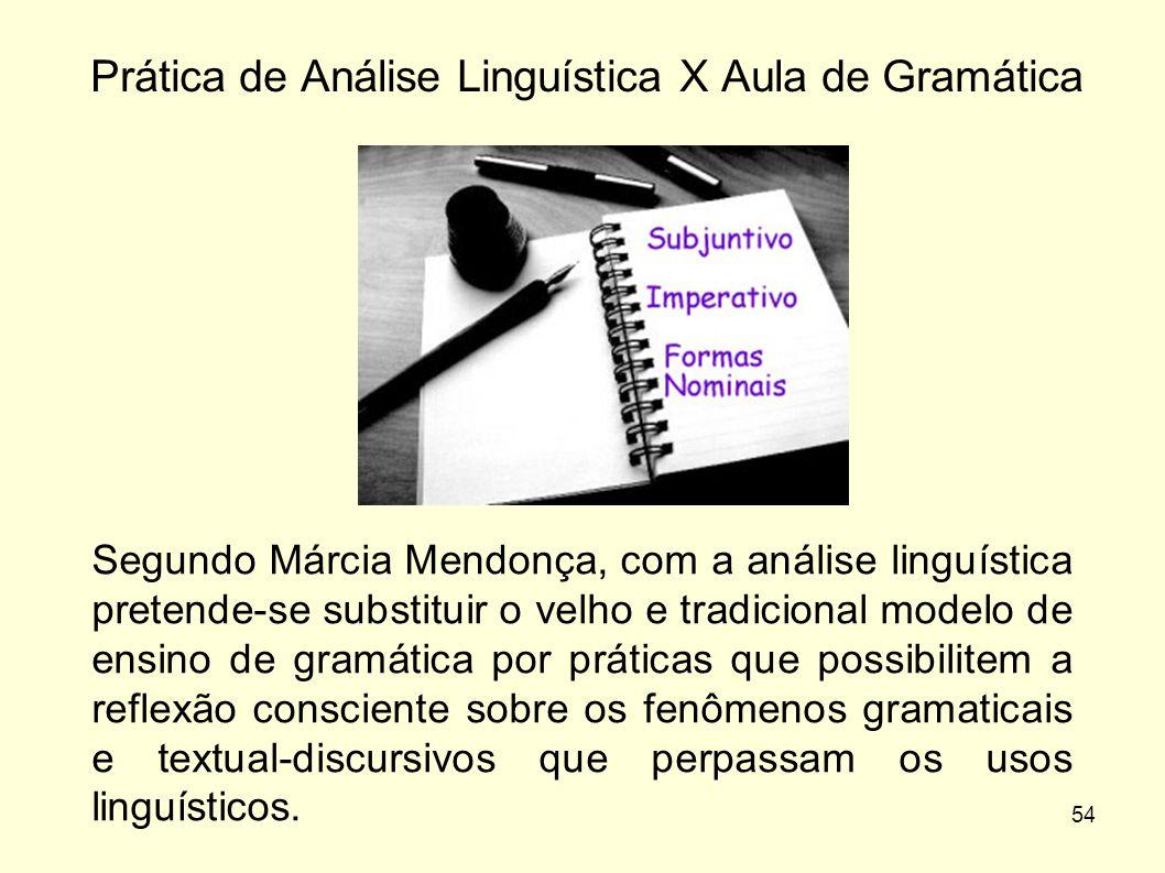 Prática de Análise Linguística X Aula de Gramática
