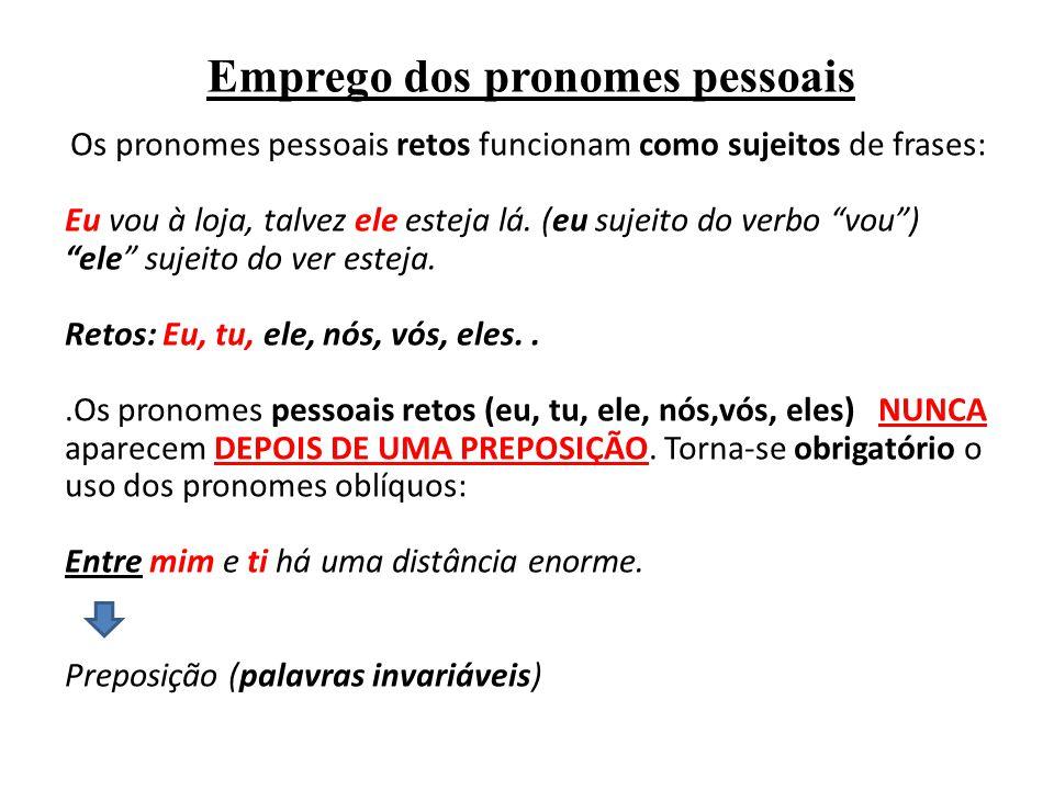 Emprego dos pronomes pessoais