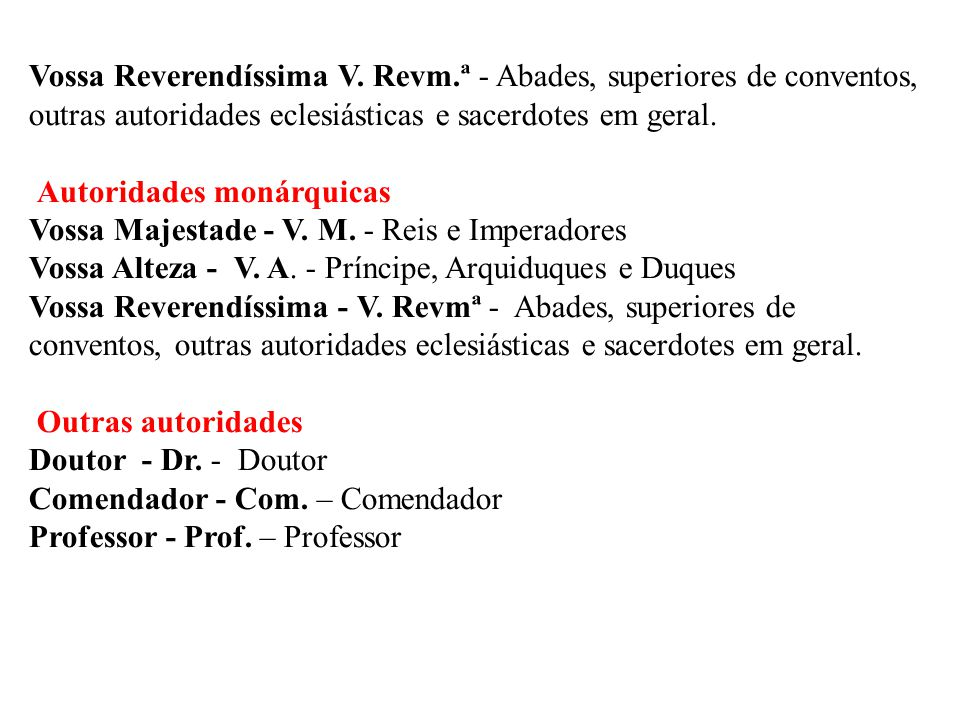 Vossa Reverendíssima V. Revm