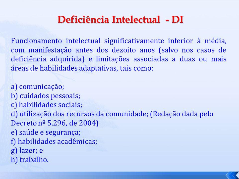 Deficiência Intelectual - DI