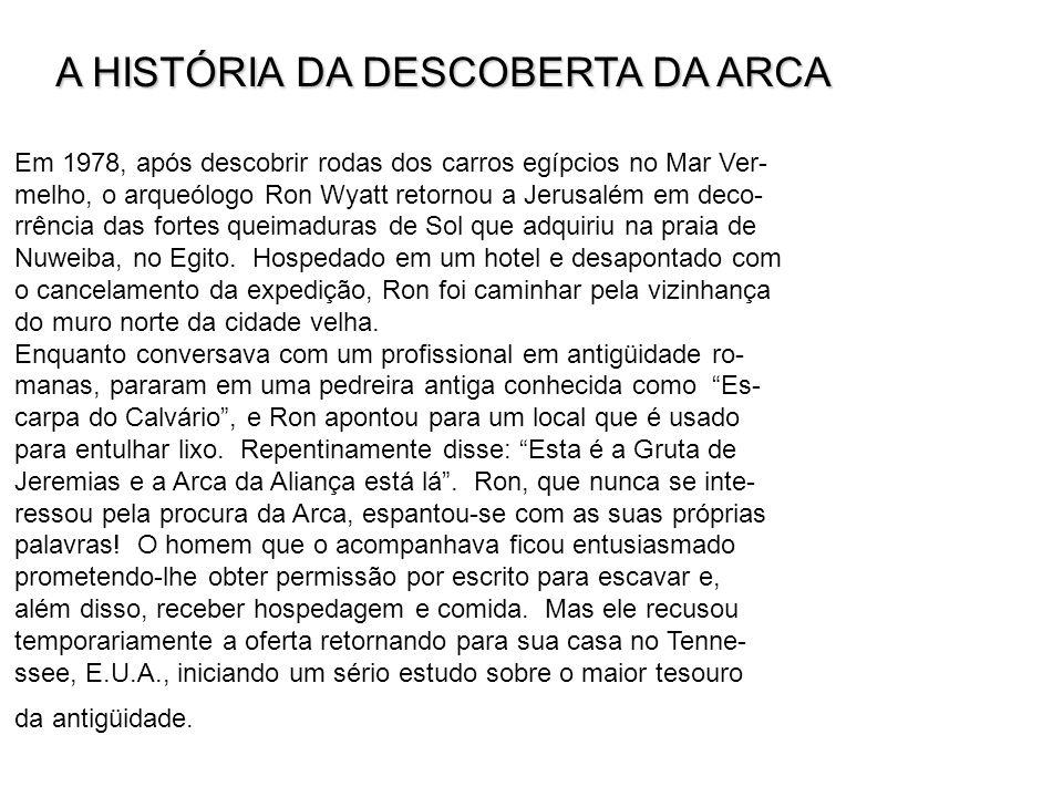 A HISTÓRIA DA DESCOBERTA DA ARCA