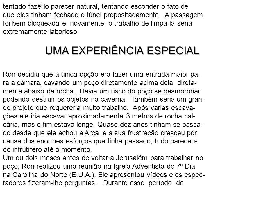 UMA EXPERIÊNCIA ESPECIAL