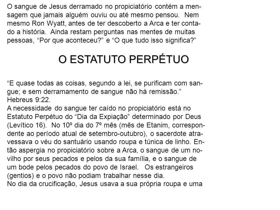O sangue de Jesus derramado no propiciatório contém a men-