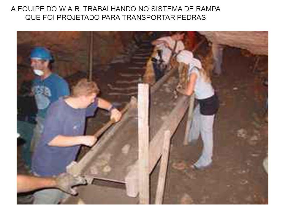 A EQUIPE DO W.A.R. TRABALHANDO NO SISTEMA DE RAMPA