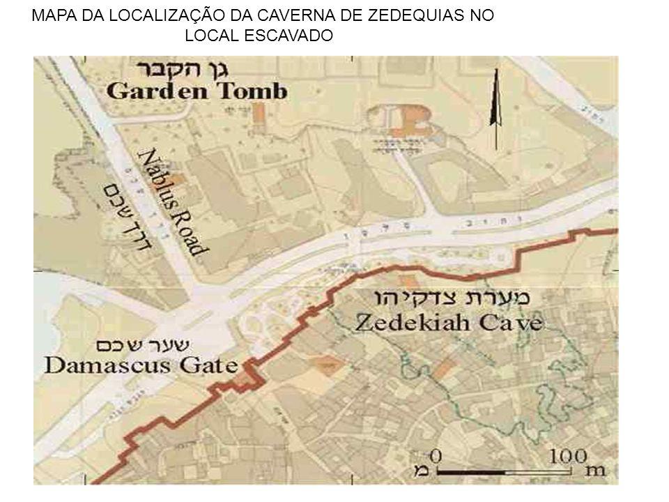 MAPA DA LOCALIZAÇÃO DA CAVERNA DE ZEDEQUIAS NO
