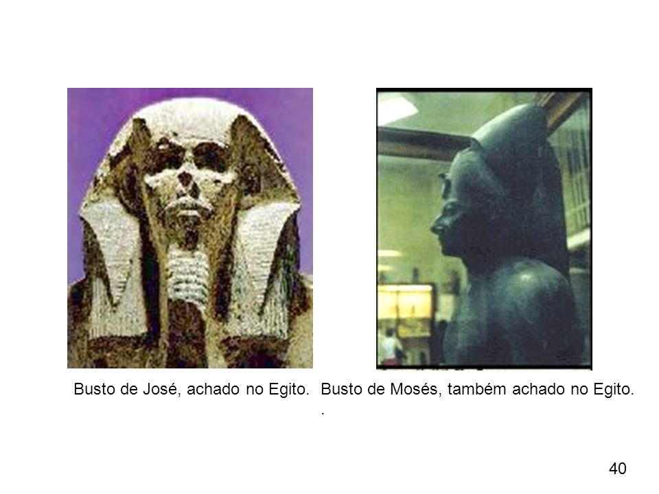 Busto de José, achado no Egito.