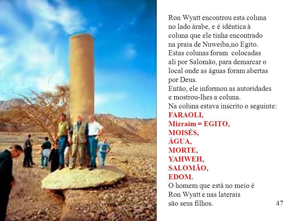 Ron Wyatt encontrou esta coluna