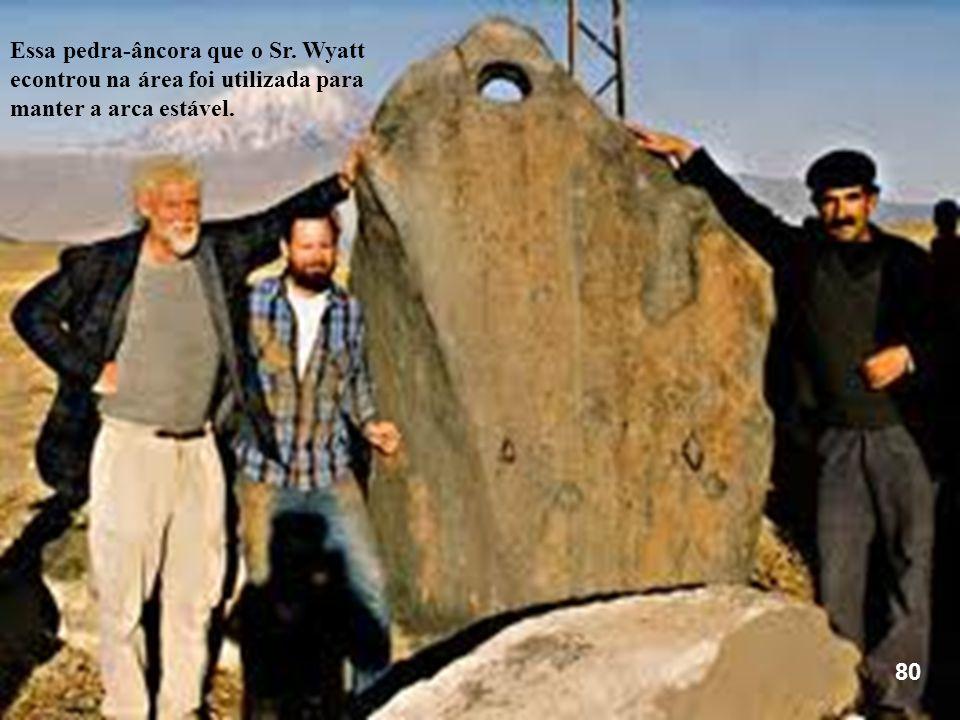 Essa pedra-âncora que o Sr. Wyatt