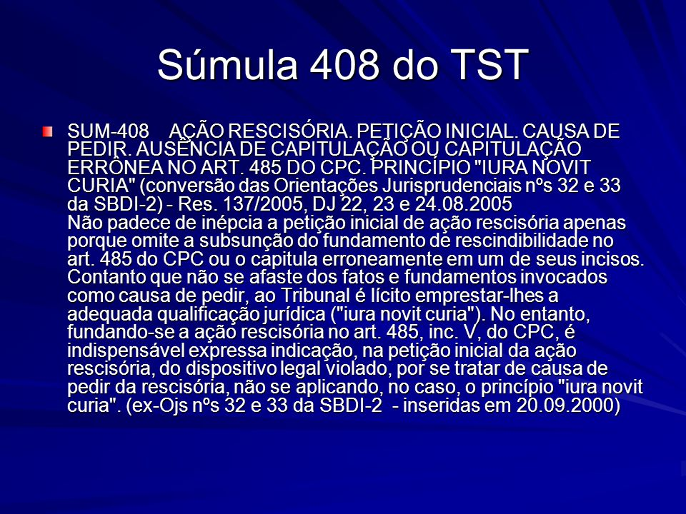 Súmula 408 do TST