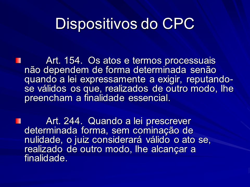 Dispositivos do CPC
