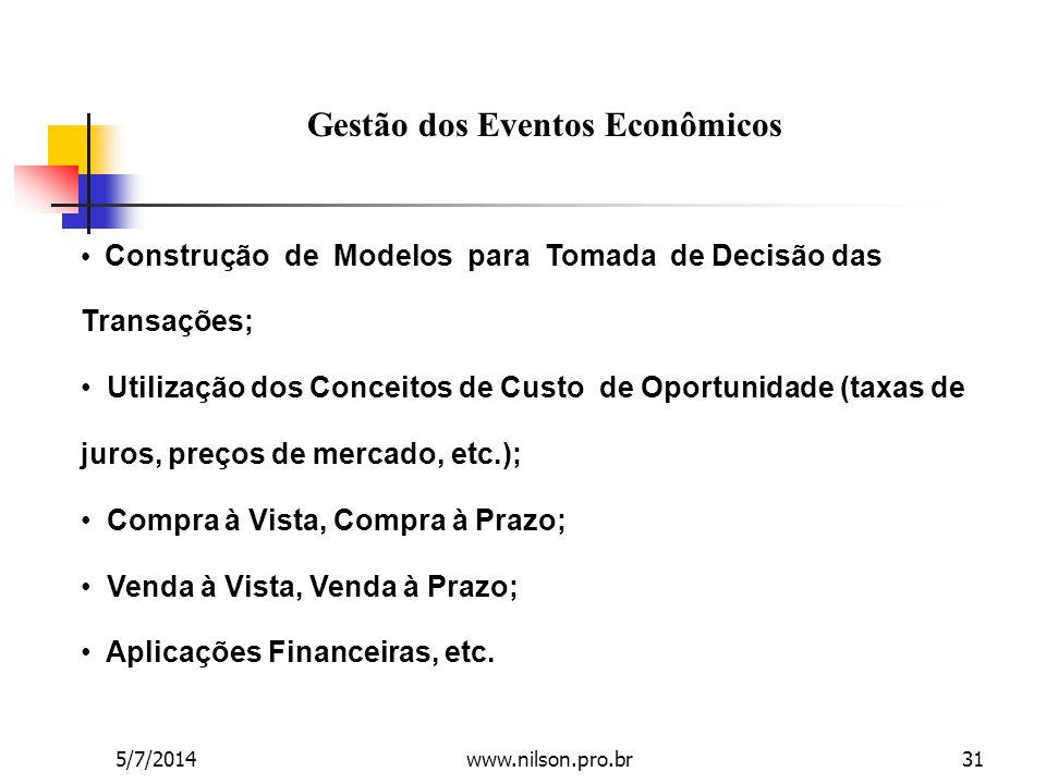 Gestão dos Eventos Econômicos