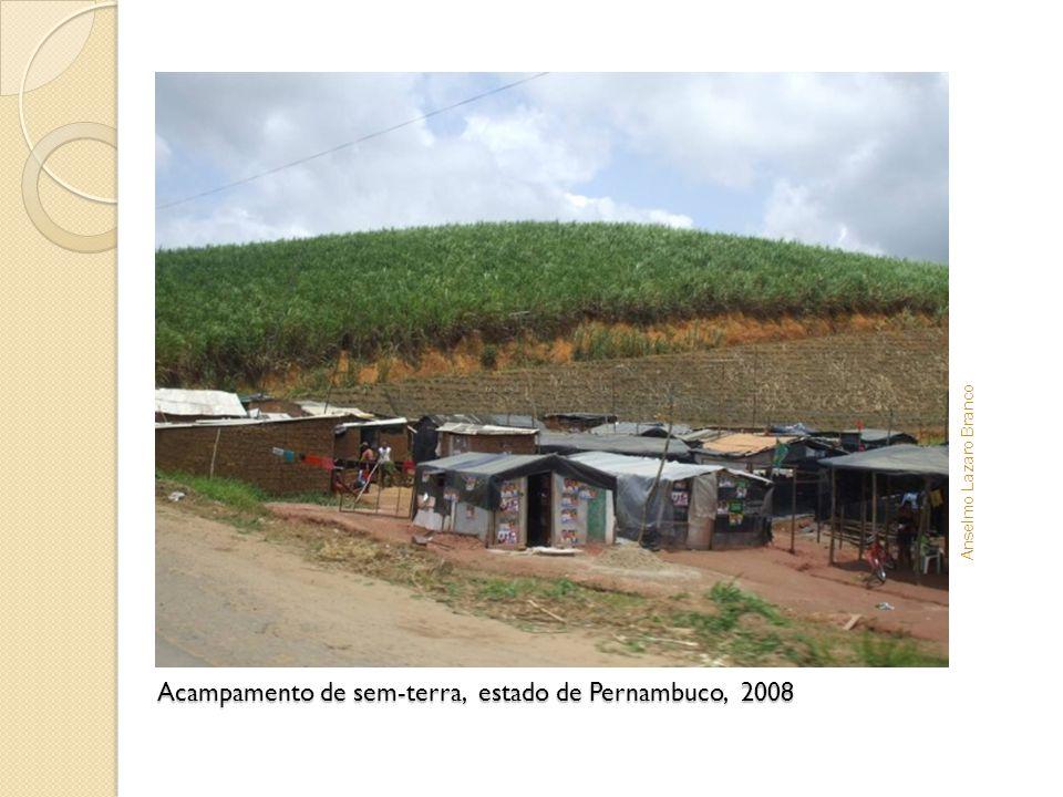 Acampamento de sem-terra, estado de Pernambuco, 2008