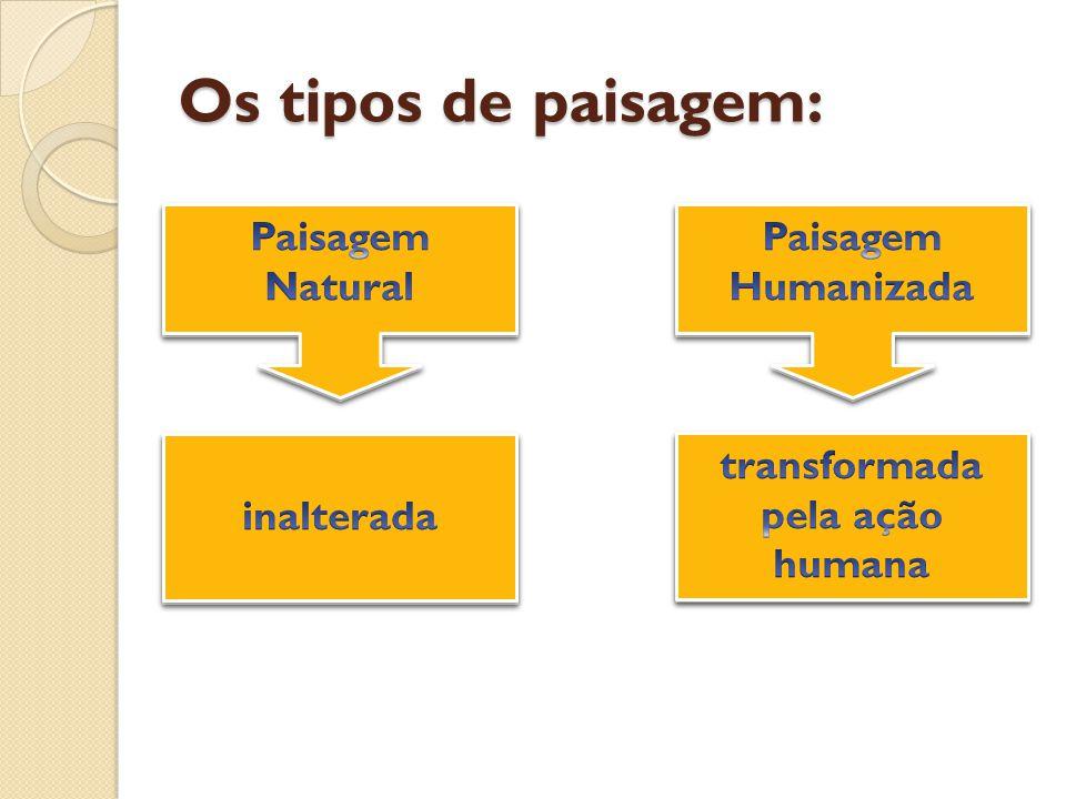 transformada pela ação humana transformada pela ação humana