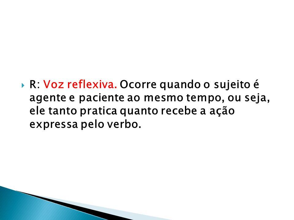 R: Voz reflexiva.
