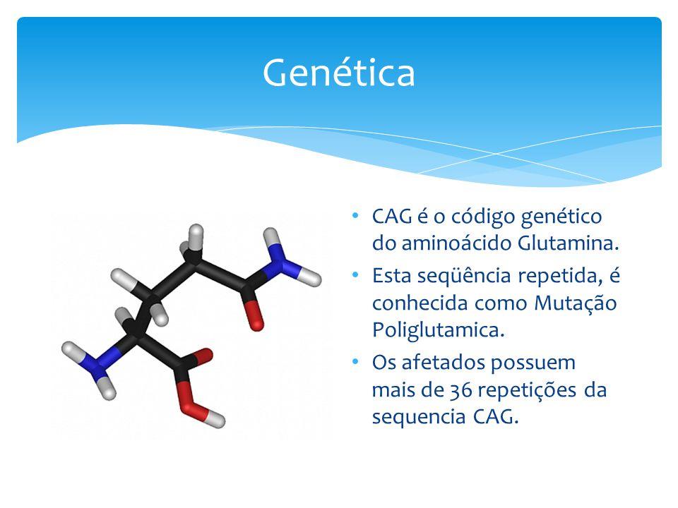 Genética CAG é o código genético do aminoácido Glutamina.