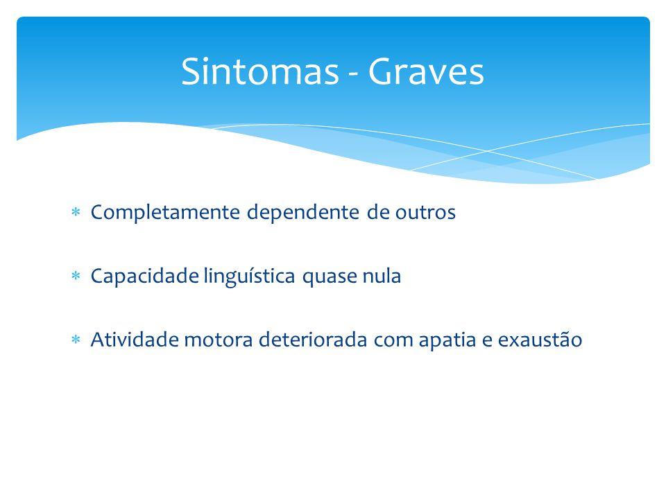 Sintomas - Graves Completamente dependente de outros