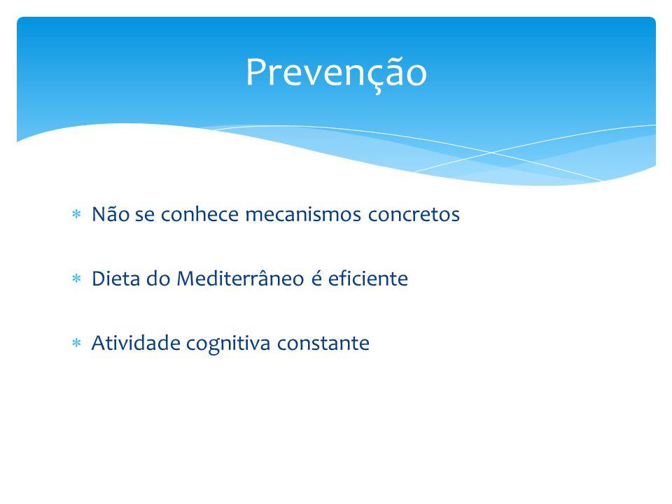 Prevenção Não se conhece mecanismos concretos